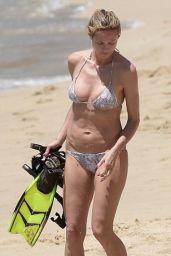 Heidi Klum in a Bikini on St.Barts, April 2016