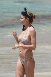Heidi Klum in a Bikini on St.Barts, April 2016