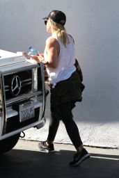 Hilary Duff  at a Gym in West Hollywood 4/20/2016