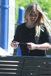 Hilary Duff at a Park in Studio City 4/20/2016