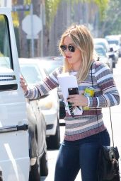 Hilary Duff in Jeans - Out in Beverly Hills 4/4/2016