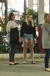 Hilary Duff in Jeans Shorts - Out in LA 4/27/2016