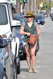 Hilary Duff Leggy in Jeans Shorts - Out in West Hollywood 4/19/2016