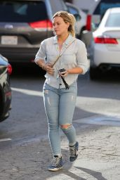 Hilary Duff Urban Outfit - Visits the Nail Salon in Beverly Hills, 4/26/2016