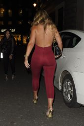 Holly Hagan Night Out Style - Libertine Night Club Style Party - London 3/31/2016