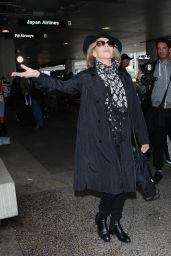 Jane Fonda at LAX Airport in LA, April 2016
