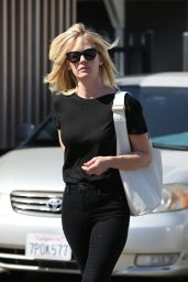January Jones Beautiful New Hair - Leaving the Salon in Beverly Hills 4/4/2016