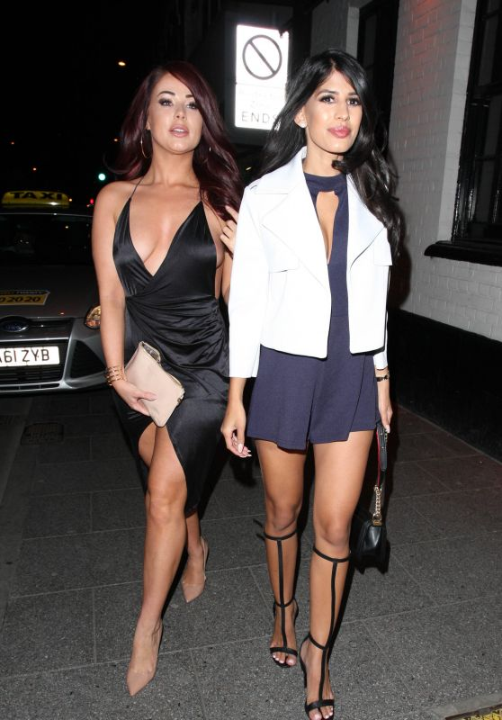 Jasmin Walia and Jessica Hayes Night Out Style - Brentwood 4/2/2016
