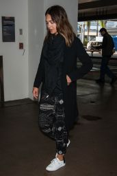 Jessica Alba Airport Style - at LAX in LA 4/17/2016