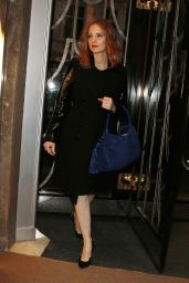 Jessica Chastain - Leaving Claridge