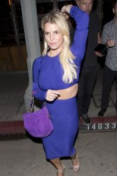 Jessica Simpson - Leaving The Sherman Bar in Sherman Oaks 4/10/2016
