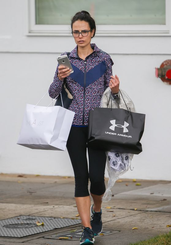 Jordana Brewster - Shopping in Beverly Hills, 4/8/2016