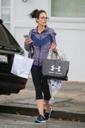 Jordana Brewster - Shopping in Beverly Hills, 4/8/2016
