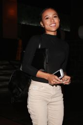 Karrueche Tran Night Out Style - Leaving Roku in Beverly Hills 4/10/2016