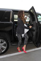 Kate Beckinsale Chic Outfit - LAX Airport in LA 4/21/2016