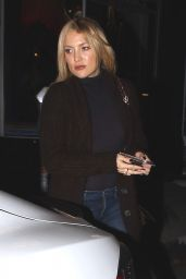 Kate Hudson Night Out Style - Outside Carlitos Gardel Restaurant in West Hollywood 3/31/2016