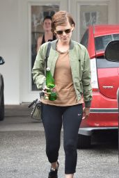 Kate Mara - Leaves the Gym After a Workout in West Hollywood 4/8/2016