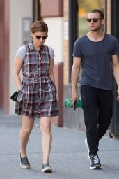 Kate Mara Street Style - Out in SoHo, New York 4/18/2016