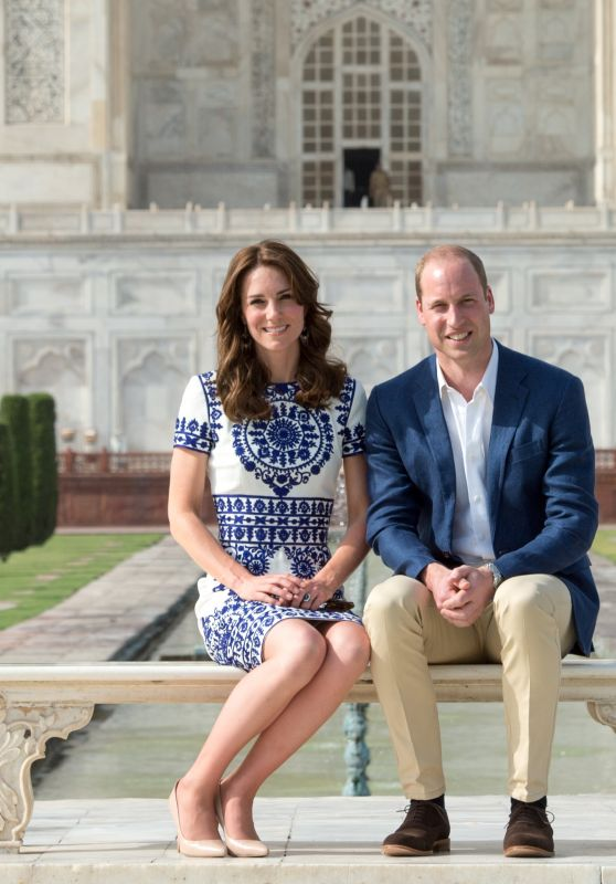 Kate Middleton and  Prince William Visit the Taj Mahal in Agra, India 4/16/2016