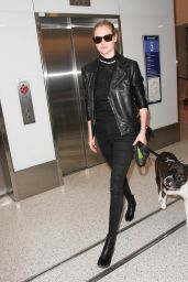 Kate Upton in Tights - at LAX Airport in LA 4/13/2016