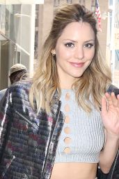 Katharine McPhee - Promoting Scorpion at SiriusXM in New York 4/18/2016