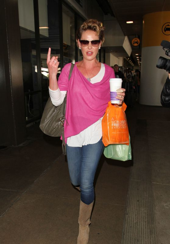 Katherine Heigl at LAX Airport in Los Angeles 4/13/2016