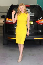 Katherine Jenkins in Yellow Dress at the ITV studios in London, UK 4/27/2016