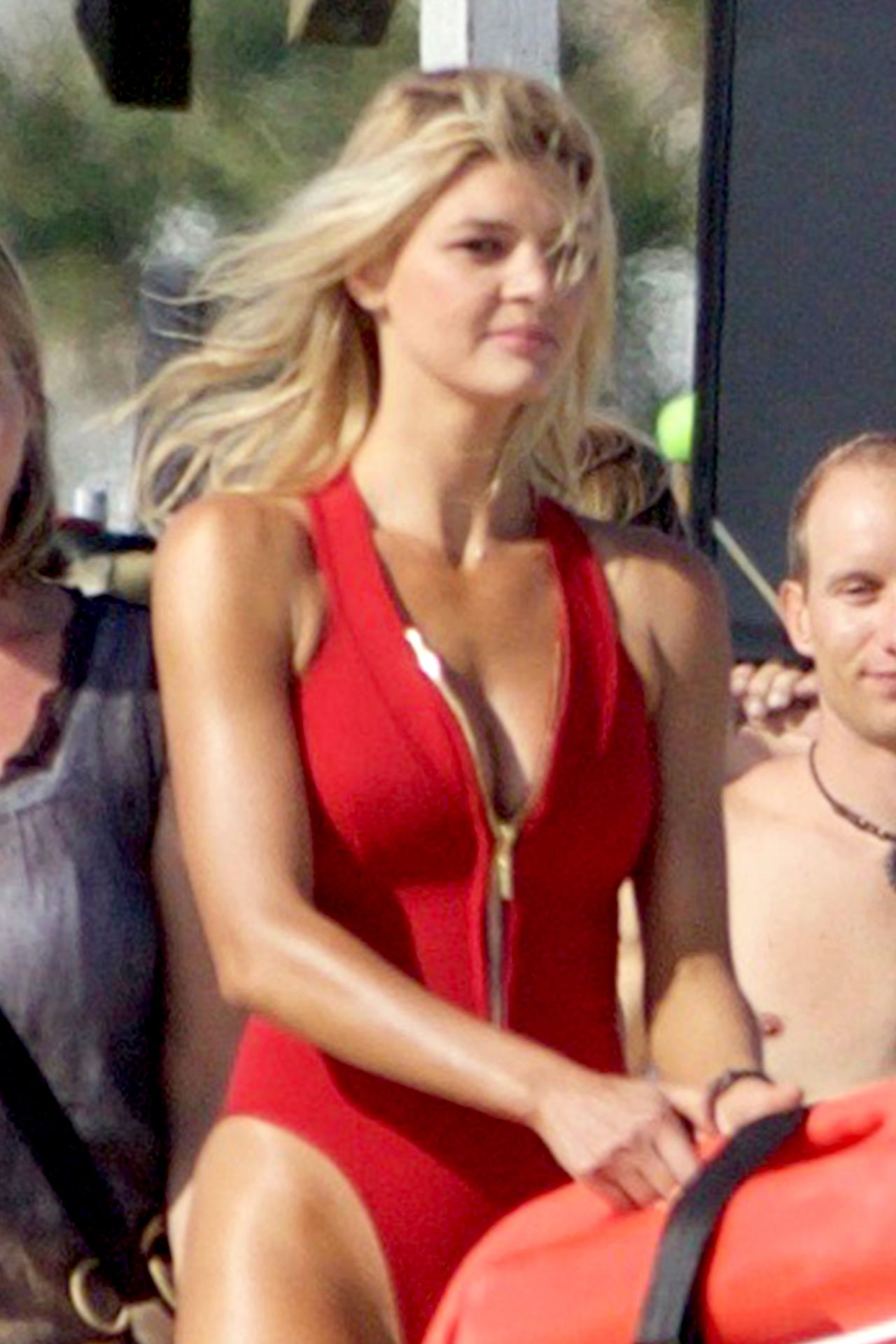 Kelly Rohrbach on the Set of Baywatch in Georgia 4/18/2016
