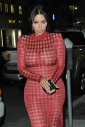 Kim Kardashian Flaming Hot - Going to Dinner With a Friend in the 90210, Beverly Hills 4/28/2016