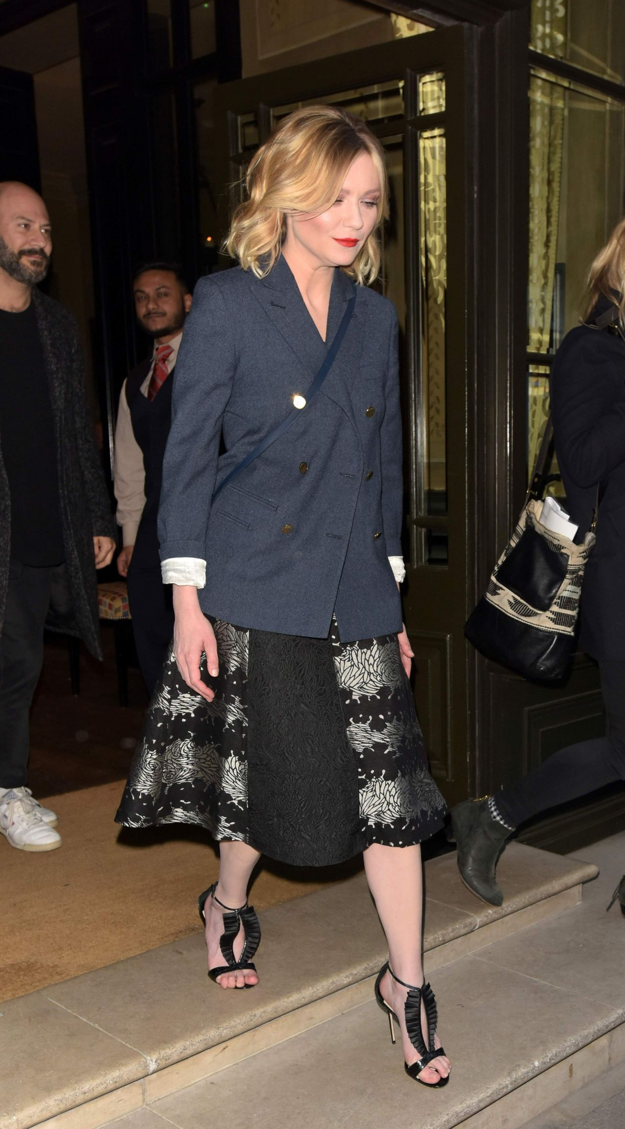 Dunst Leaving the Covent Garden Hotel in London UK 3312016