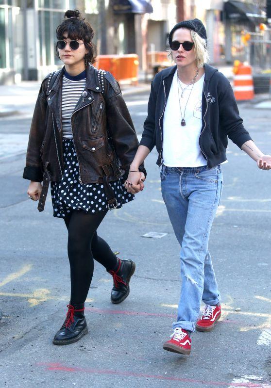 Kristen Stewart and Girlfriend Soko Sokolinski  Holding Hands - New York City, April 2016
