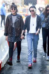 Kristen Stewart and Girlfriend Soko Sokolinski  Holding Hands - New York City, April 2016