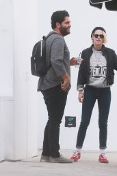 Kristen Stewart at a Valet in Beverly Hills 4/29/2016