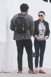 Kristen Stewart at a Valet in Beverly Hills 4/29/2016