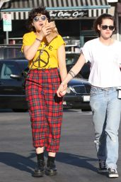 Kristen Stewart Street Style - Out in Hollywood 4/1/2016