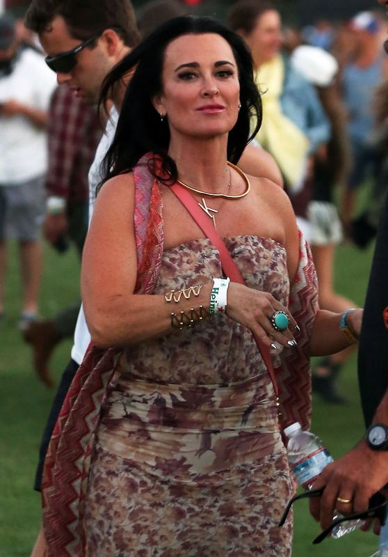 Kyle Richards at Coachella 2016 week 1 day 1 in Indio 4/15/2016
