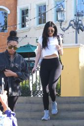 Kylie Jenner Booty in Tights  - at Sugarfish in Calabasas 4/26/2016
