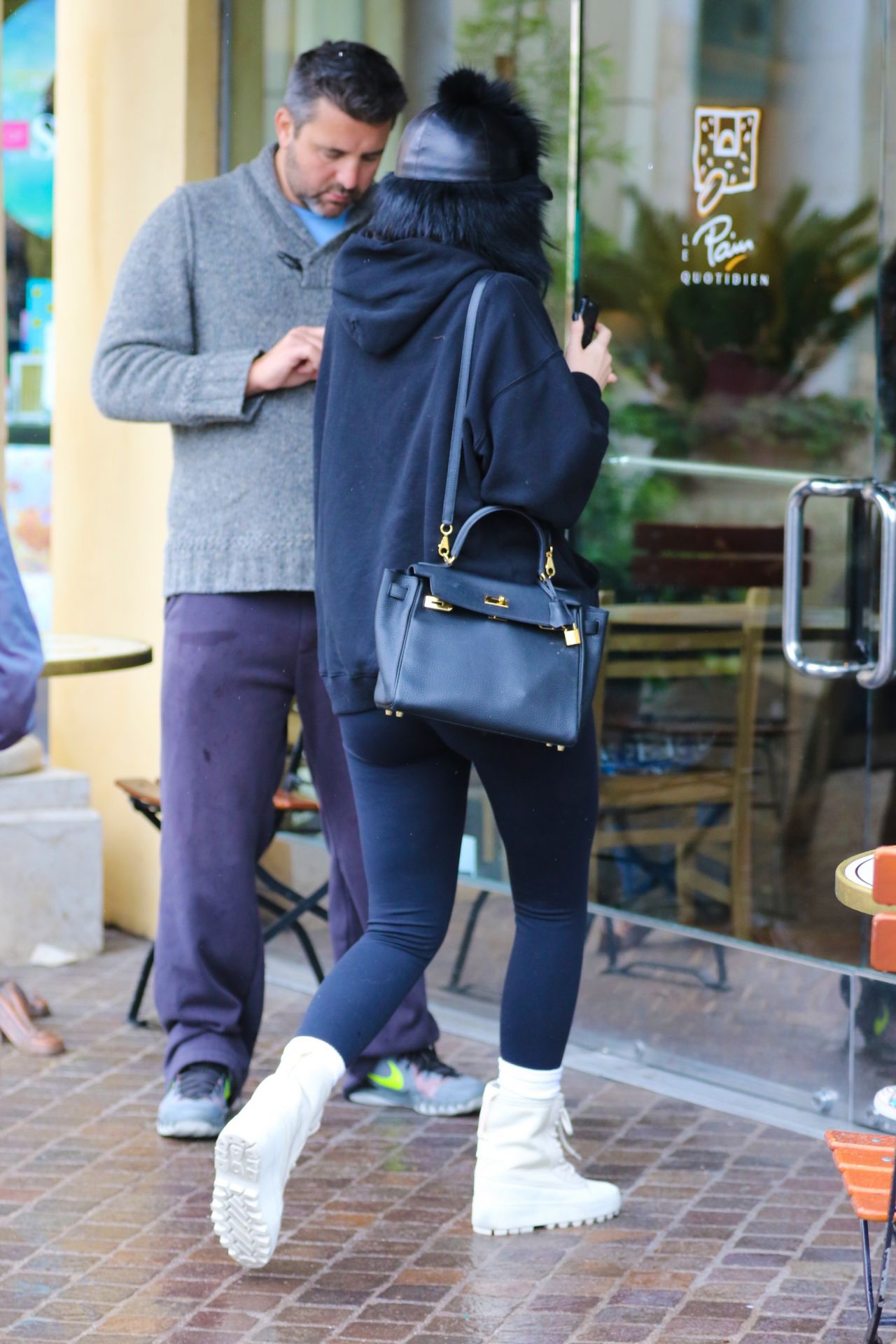 Kylie Jenner Bundling Up In Comfy Clothes On Her Way To