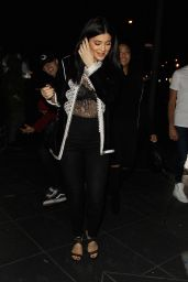 Kylie Jenner Night Out - at Roku Restaurant in West Hollywood 4/10/2016