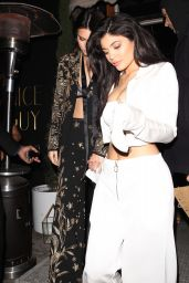 Kylie Jenner Night Out Style - at The Nice Guy West Hollywood 4/28/2016