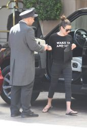 Lea Michele in Leggings - Arrives at the Montage Hotel in Beverly Hills 3/31/2016