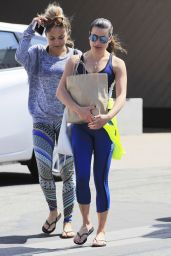 Lea Michele in Spandex - Leaving a Gym in Brentwood, CA, 4/27/2016