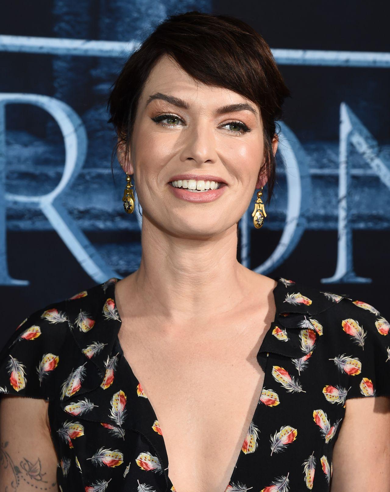 Lena Headey  Game of Thrones Season 6 Premiere in Los - Game Of Thrones Hairstyles