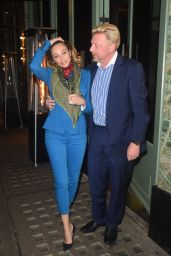Lilly and Boris Becker - Leaves Sexyfish in London, UK 4/27/2016