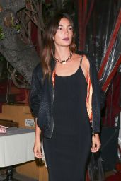 Lily Aldridge at The Nice Guy West Hollywood 4/28/2016