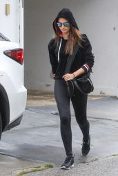 Lily Aldridge in Spandex - Out in Los Angeles 4/9/2016