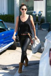 Lily Aldridge in Tights - Out in West Hollywood 3/30/2016