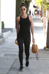 Lily Aldridge Stops By a Gym For a Work - Out in West Hollywood, California 4/20/2016
