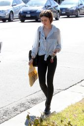 Lily Collins Style Inspiration - Shopping in Los Angeles 4/23/2016