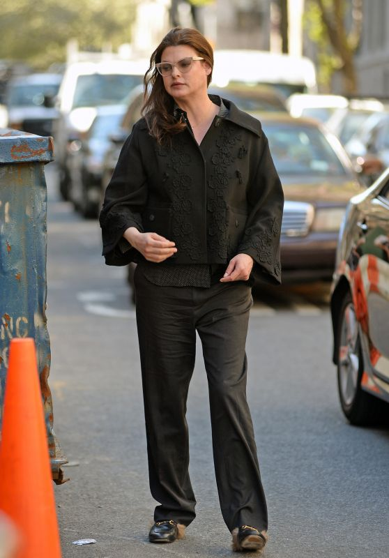 Linda Evangelista Nearly Unrecognizable - Out the West Village, April 2016